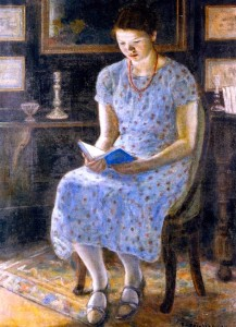 Blue Girl Reading_Frederick C. Frieseke