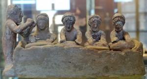 Terracotta tebana con fornaie, 525-475 a.C.., Museo del Louvre Parigi